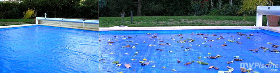 B che de proctection volet piscine protectone vert 12 x 5 m - Bache d hivernage pour piscine ...